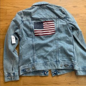 Old Navy American Flag Graphic Denim Jean Jacket